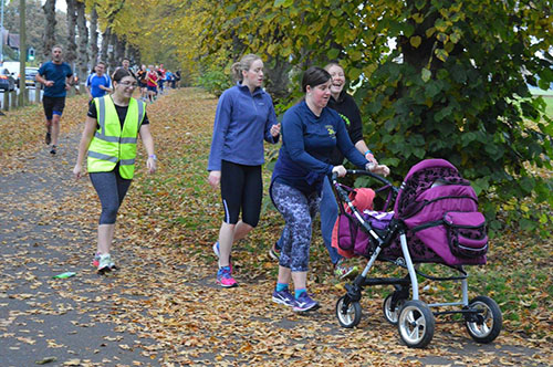Oscar at his first Northampton parkrun