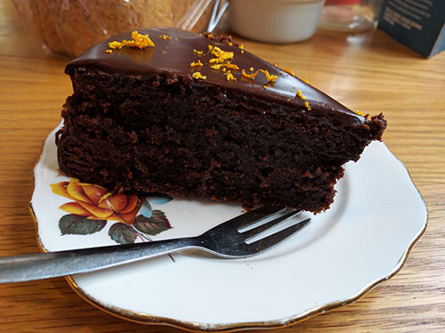 Chocolate orange brownie from The Good Loaf Bakery, Northampton