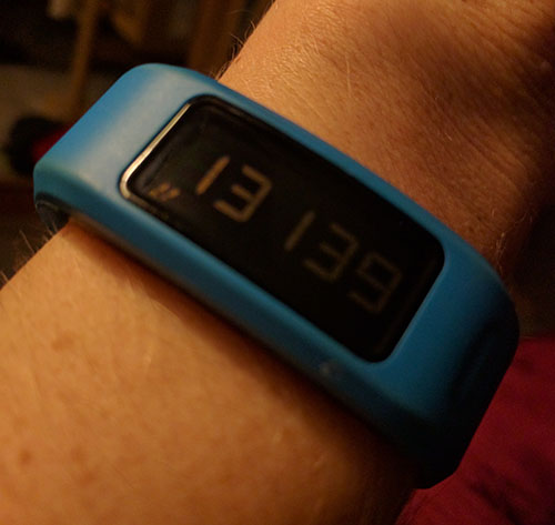 More than 10,000 steps on the Vivofit