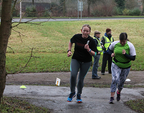 Laura and Me at Linford Wood parkrun on New Year's Day