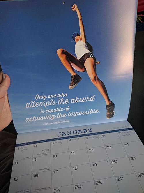2017 running calendar