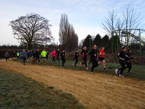 Kettering parkrun in the mud