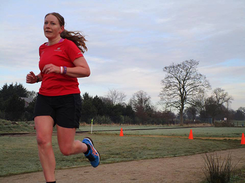 Me running at Kettering parkrun