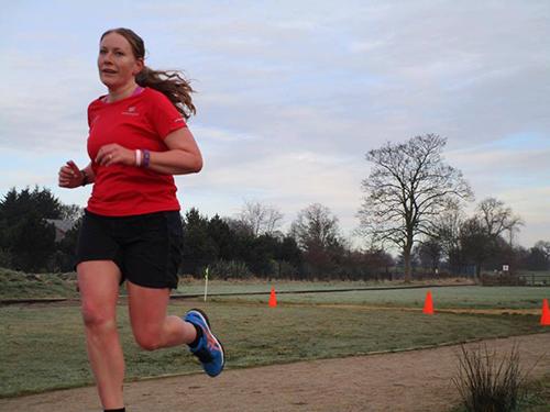 Me running at Kettering parkrun
