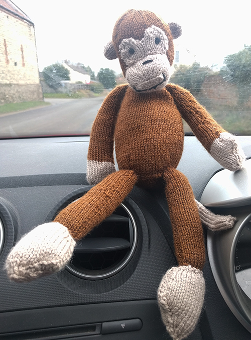 Oliver's knitted monkey
