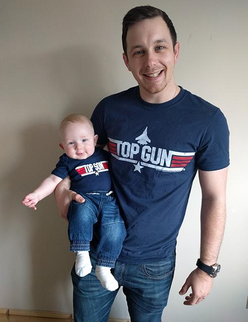 Top Gun Top Son - Dan with Oscar