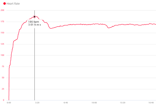 Kettering parkrun heart rate