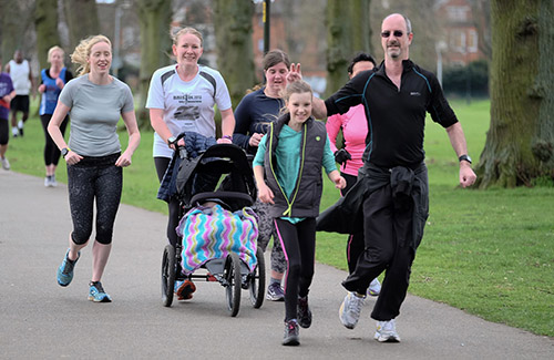 Northampton parkrun with the running buggy