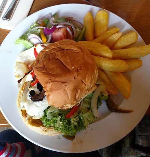 Halloumi burger from The Hare Arms