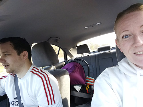 Dan, Me and Oscar on the way to parkrun