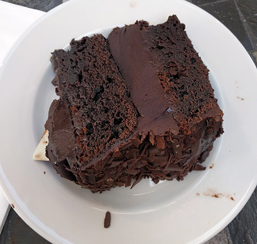 Chocolate fudge cake from Beckworth Emporium