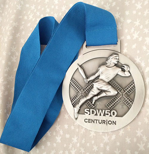 South Downs Way 50 medal