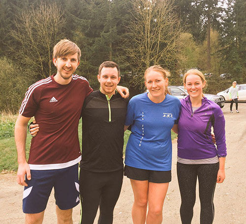 Ludlow parkrun with Dan, John and Lynn