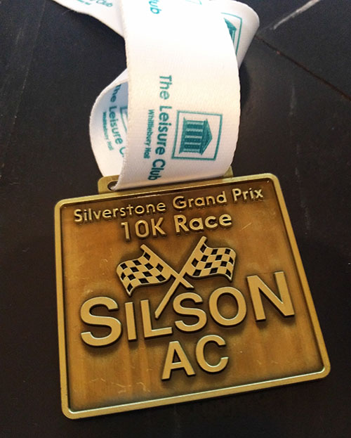 Silverstone 10k medal