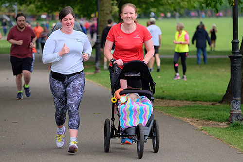 Northampton parkrun with the buggy