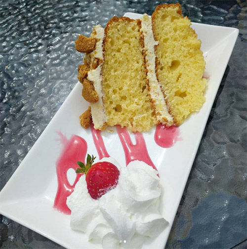 Lemon and ginger sponge cake