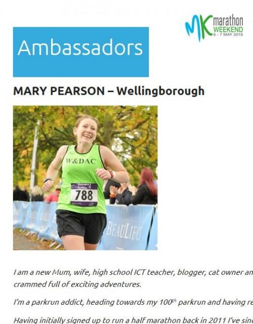 Milton Keynes Marathon ambassador