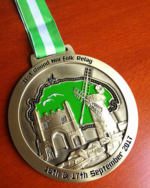 Round Norfolk Relay 2017 medal