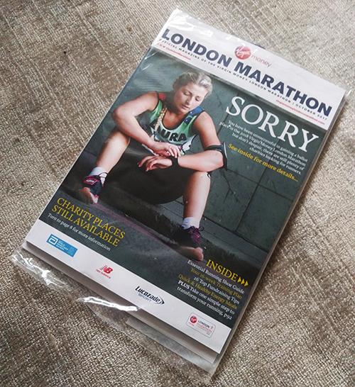 London Marathon rejection magazine 2018