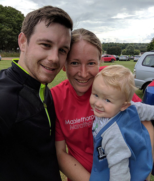 Kettering parkrun as a family of three