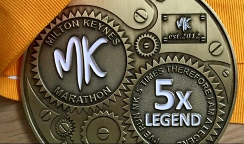 Marathon legends medal