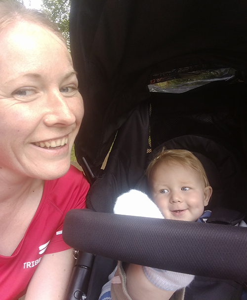 Wolverhampton parkrun with Oscar in the buggy