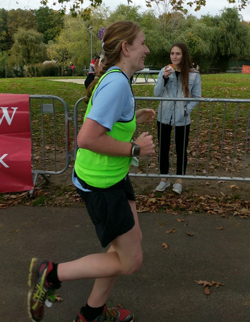 Chelmsford marathon finishing straight