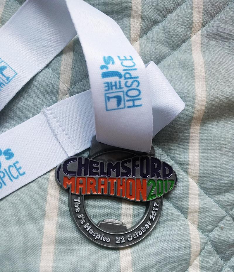 Chelmsford marathon medal