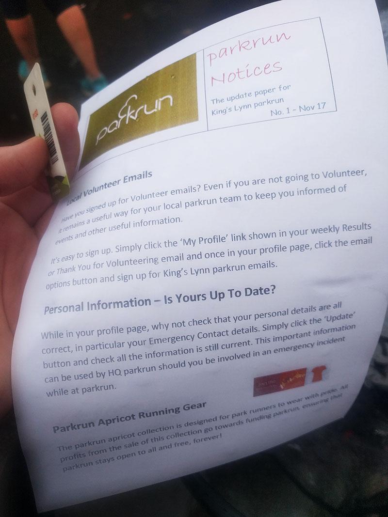Kings Lynn parkrun leaflet