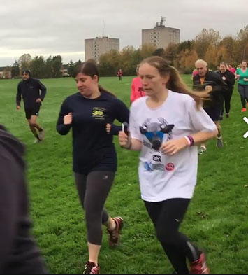 Laura and I at Rugby parkrun