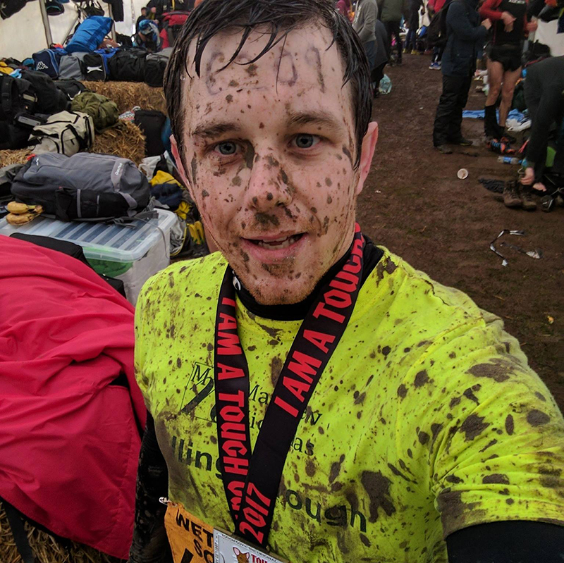 Dan at the end of Tough Mudder
