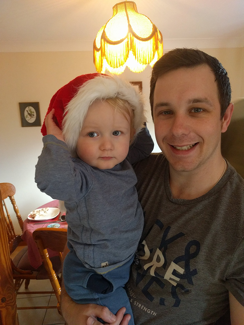 Oscar and Dan - Christmas 2017