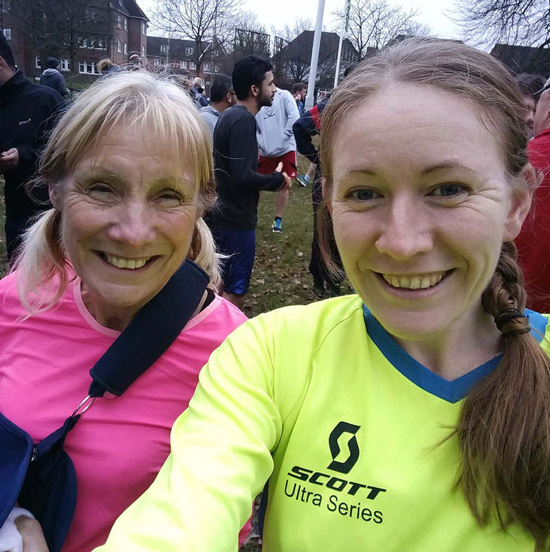 Sally and I at Cassiobury parkrun