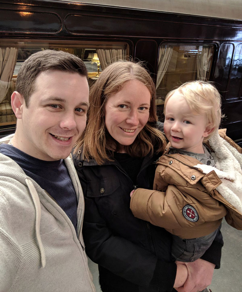 Me, Dan and Oscar at the Train museum