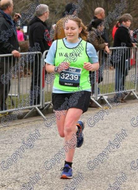 MK half marathon finish