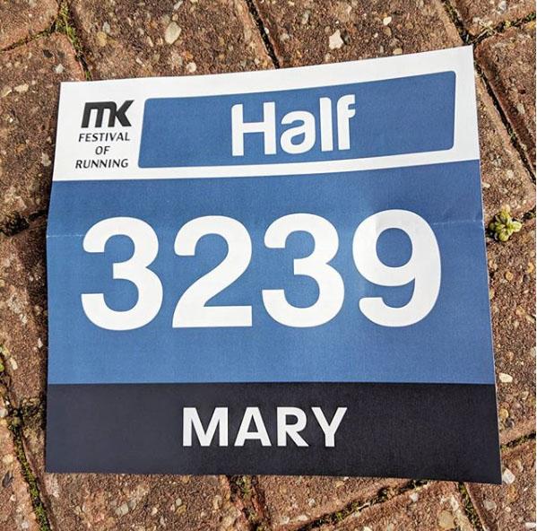MK half race number