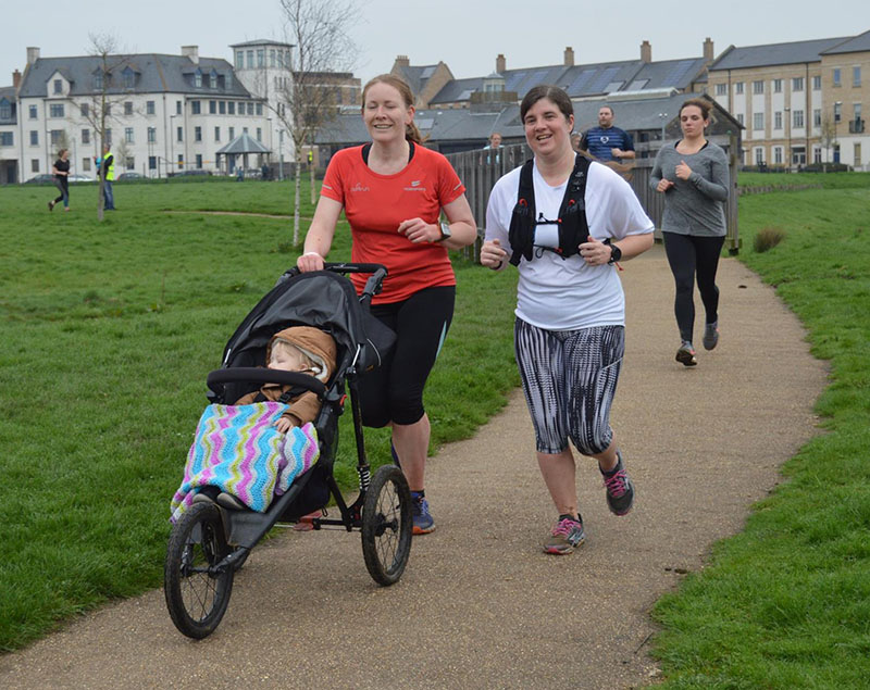 Laura, Oscar and Me at the Sixfields Upton parkrun