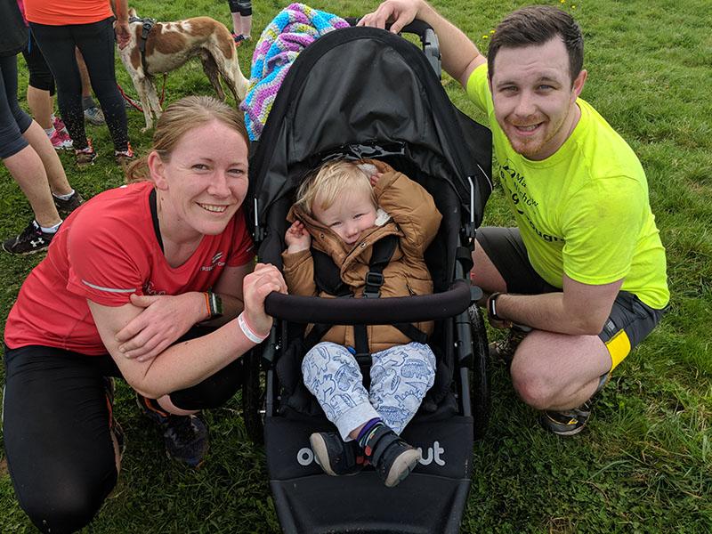 Dan, Oscar and Me at Sixfields Upton parkrun
