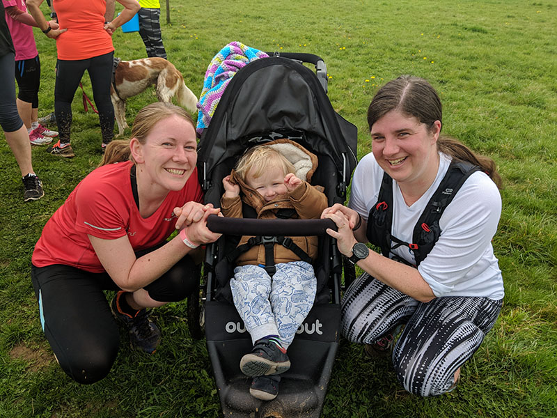 Laura, Oscar and Me at Sixfields Upton parkrun