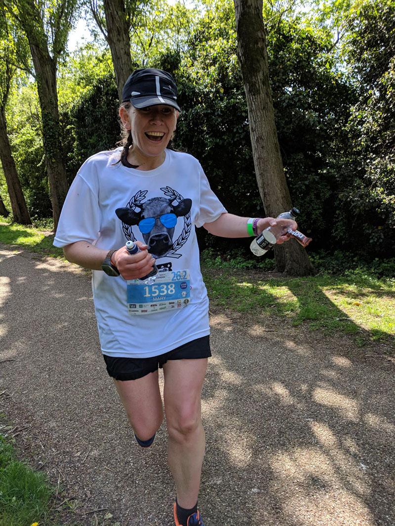Milton Keynes Marathon - spotting Oscar