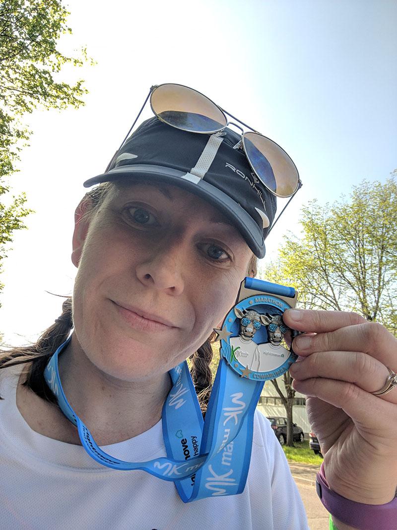 Milton Keynes Marathon medal 2018