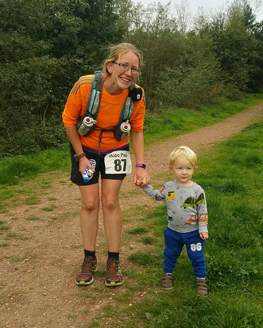 Oscar and I near the end of Robin Hood 100