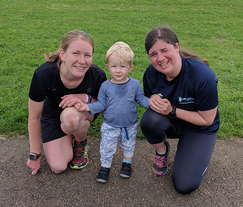Oscar, Laura and I at Sixfields parkrun