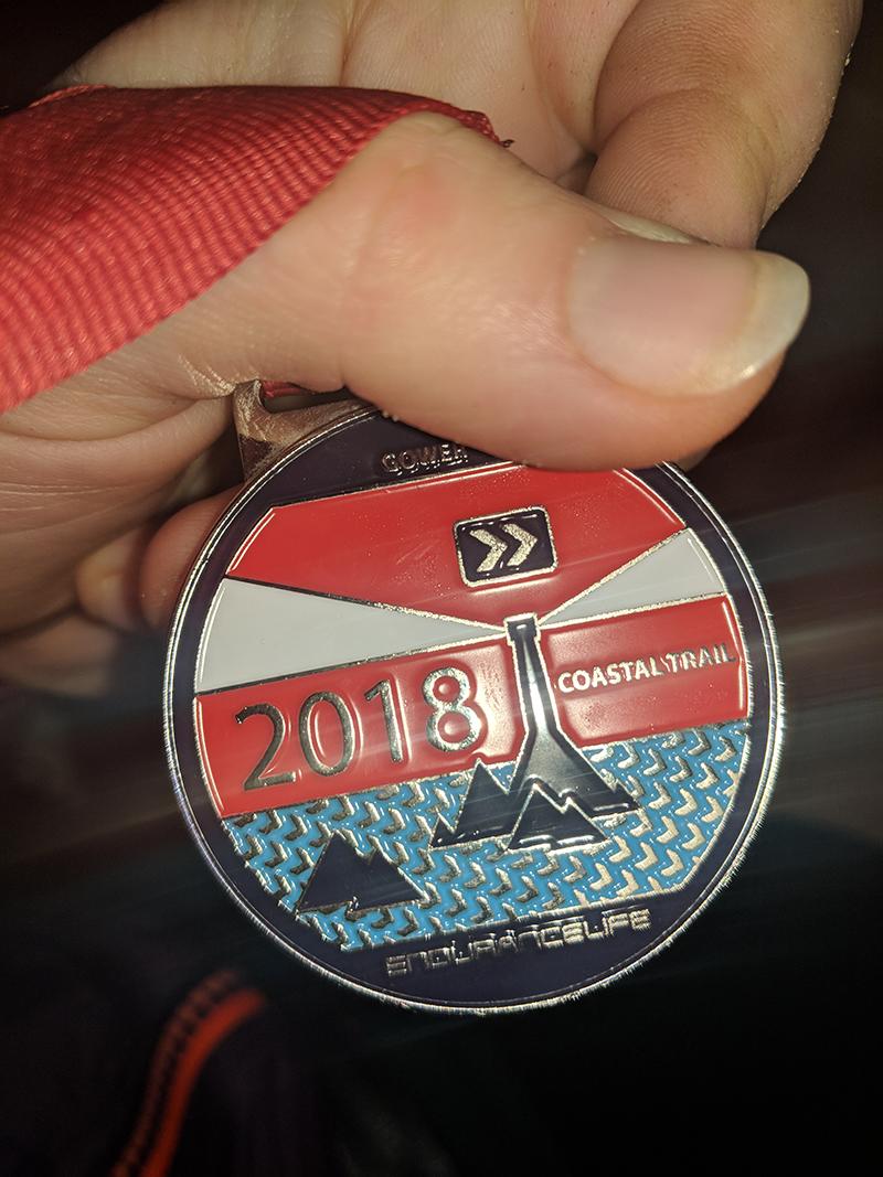 EnduranceLife Gower marathon medal
