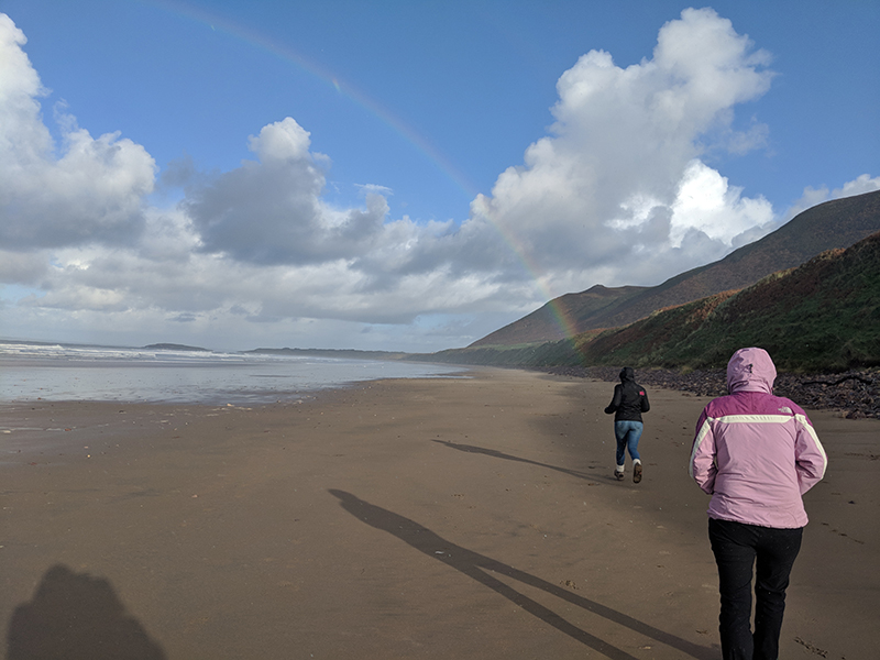 Rainbow at Gower beach