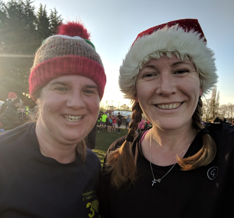 Laura and I at the Kettering Christmas parkrun