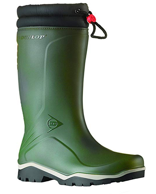 Green Dunlop wellies