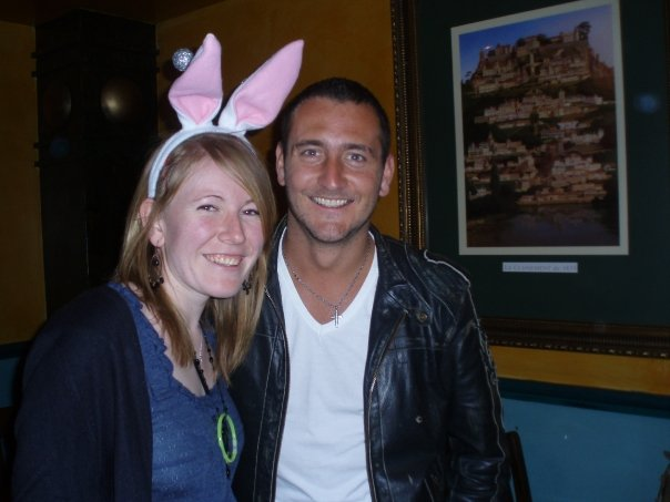 Me with Will Mellor at Zanzibar in Stafford