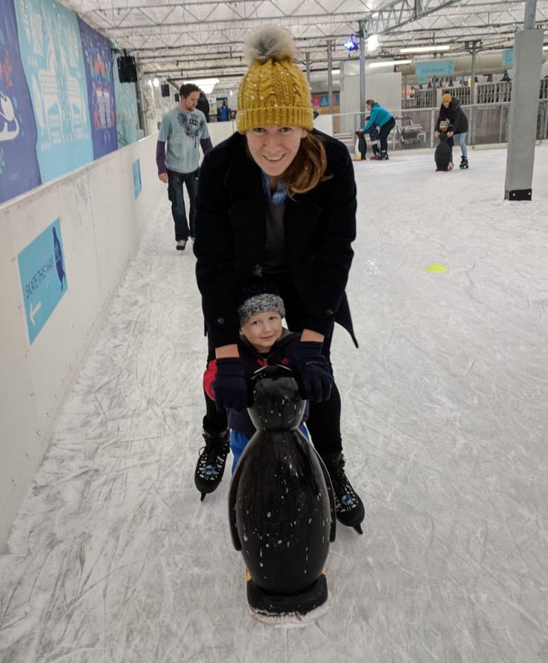 Ice skating at Beckworth Emporium
