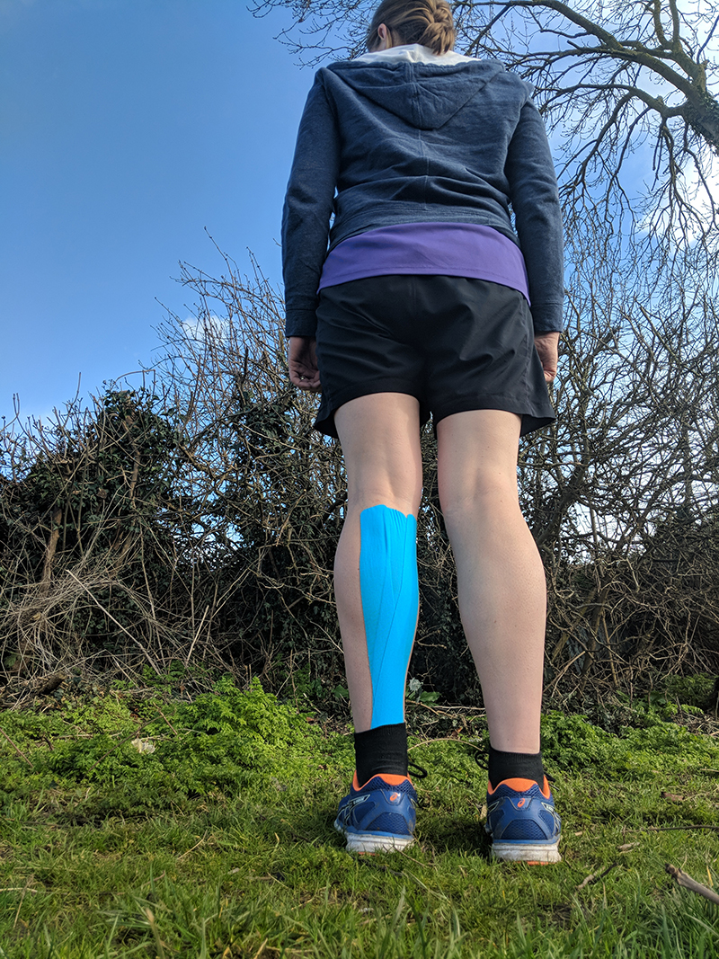 Physio taped up calf